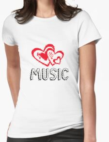 Music!  Womens Fitted T-Shirt