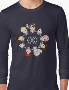 EXO cartoon Long Sleeve T-Shirt
