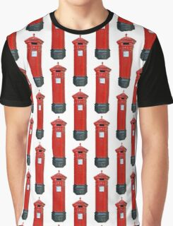 Old Victorian Red Post Box from Britain, London. Roter Briefkasten, England Graphic T-Shirt
