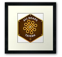 "All Roads Tavern ""Dice Sign"" Full Color Logo Framed Print"