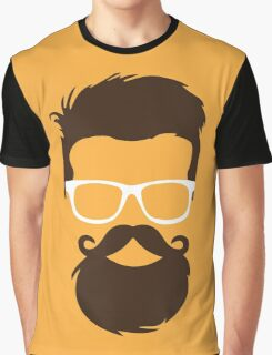 Hipster Face Graphic T-Shirt