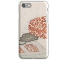 Seals and a Carved Lacquer Container for Seal Ink, Kitao Shigemasa  iPhone Case/Skin
