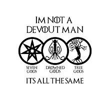 Devout Man Photographic Print