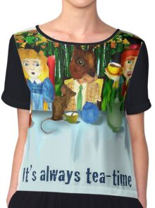 Alice in Wonderland - It's always tea-time Chiffon Top
