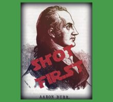 Aaron Burr Shot First - Hamilton on Broadway, Star Wars Mash-up Kids Tee