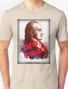 Aaron Burr Shot First - Hamilton on Broadway, Star Wars Mash-up T-Shirt