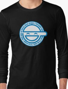 Best Quality Ghost in the Shell Laughing Man Logo super HD Long Sleeve T-Shirt