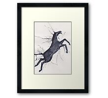 Abstract Horse Framed Print
