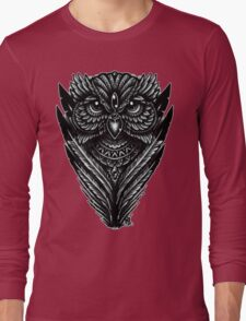 Hand Inked Night Owl Long Sleeve T-Shirt