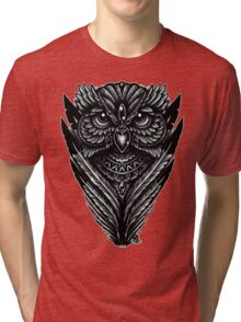 Hand Inked Night Owl Tri-blend T-Shirt