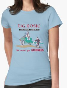 GUINNESS VINTAGE GUINNESS IN IRISH GAELIC Womens Fitted T-Shirt