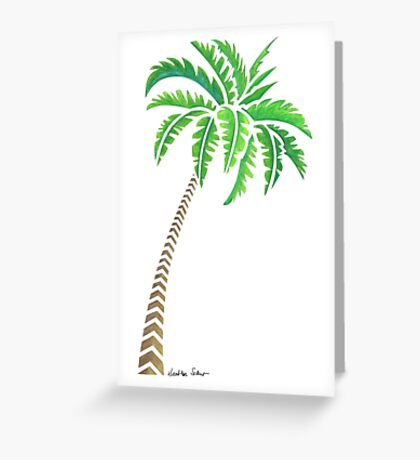 Tribal Coconut Palm Tree Greeting Card