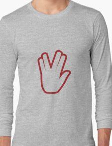 Vulcan salute - live long and prosper Long Sleeve T-Shirt