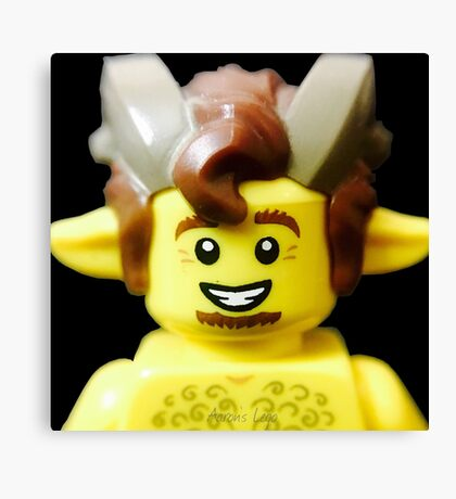 Lego Faun minifigure Canvas Print