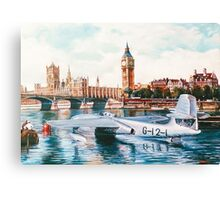 Flying Boat on the Thames Canvas Print