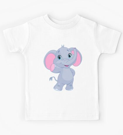 Cute elephant cartoon Kids Tee
