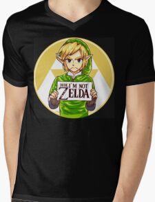 Dude, I'm Not Zelda Mens V-Neck T-Shirt