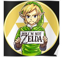 Dude, I'm Not Zelda Poster
