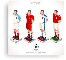 EURO 2016 Championship GROUP B Canvas Print