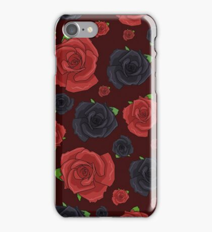 Black and Red Roses iPhone Case/Skin