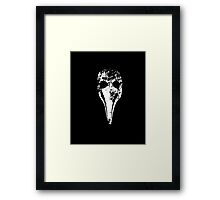 Plague Doctor's mask (Beak doctor) Framed Print