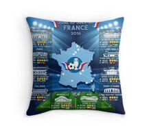 France 2016 UEFA EURO Championship Throw Pillow