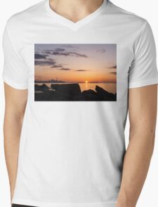 Toronto Skyline Panorama at Sunrise Mens V-Neck T-Shirt