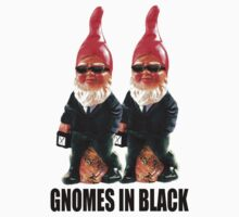 Gnomes in Black One Piece - Short Sleeve