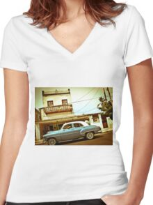 Havana Drive-By Women's Fitted V-Neck T-Shirt