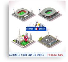Game Set EURO 2016 France Stadium Canvas Print