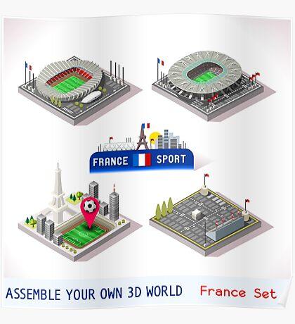 Game Set EURO 2016 France Stadium Poster