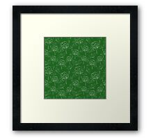 Clover on the green lawn Framed Print