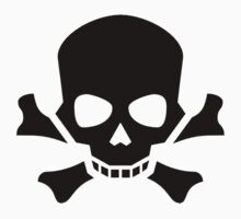 Skull, Crossbones, Halloween, Warning, Pirate, Death, dead, Poison, BLACK Kids Tee