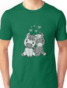 couple couple love love 2 sweet cute sitting comic cartoon pony horses pferdchen kawaii child girl baby foal Unisex T-Shirt