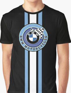 BMW Motorcycle Racing Vintage Stripe Graphic T-Shirt