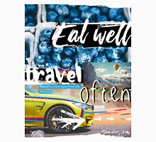 Eat well travel often - Aesop Unisex T-Shirt