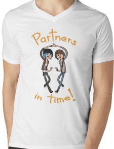 Partners in time! Mens V-Neck T-Shirt