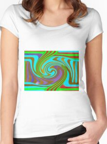 Psychedelic Swirl  Women's Fitted Scoop T-Shirt