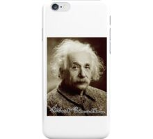 Albert, Einstein, Portrait, signature, Physicist, Genius iPhone Case/Skin
