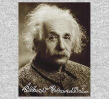 Albert, Einstein, Portrait, signature, Physicist, Genius, mathematician One Piece - Short Sleeve