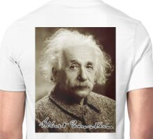 Albert, Einstein, Portrait, signature, Physicist, Genius, mathematician Unisex T-Shirt