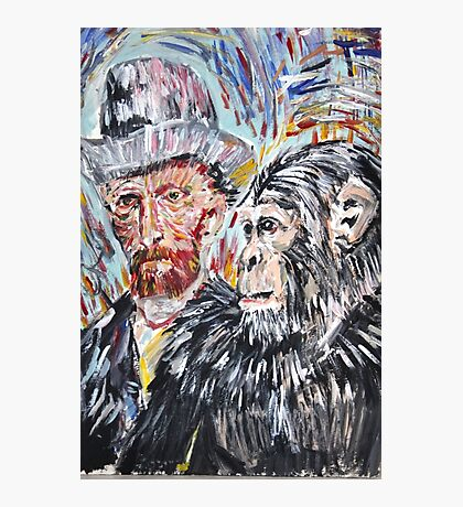 Vincent and the chimp Photographic Print