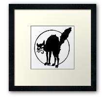 Anarchist black cat Framed Print