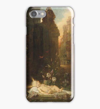 Vintage famous art - Gustave Moreau - The Infant Moses 1876  iPhone Case/Skin
