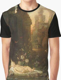 Vintage famous art - Gustave Moreau - The Infant Moses 1876  Graphic T-Shirt