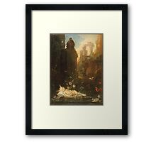 Vintage famous art - Gustave Moreau - The Infant Moses 1876  Framed Print
