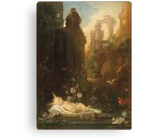 Vintage famous art - Gustave Moreau - The Infant Moses 1876  Canvas Print