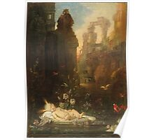 Vintage famous art - Gustave Moreau - The Infant Moses 1876  Poster