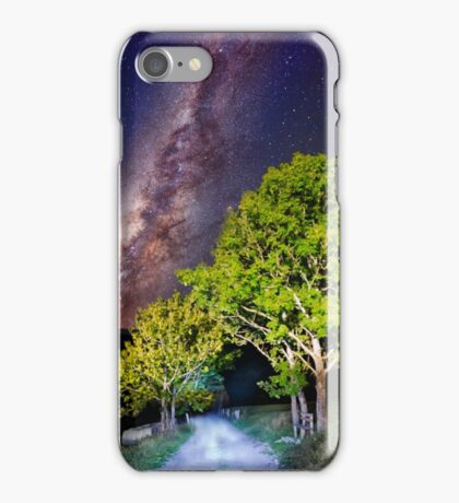 Trees in the alps under the Milky Way iPhone Case/Skin