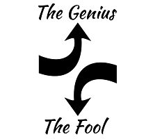 The Genius and The Fool Photographic Print
